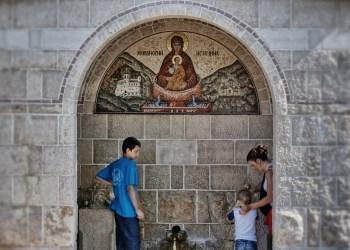 Źródło w dolnym monasterze Ostrog