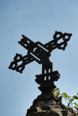 Krzyż nagrobny na cmentarzu prawosławnym w Terebiniu
