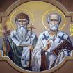Św. Mikołaj Cudotwórca i św. Spirydon z Tremithus