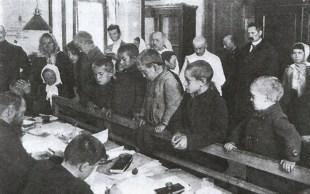 Rejestracja bieżeńców na uchodźstwie - 1915 r.