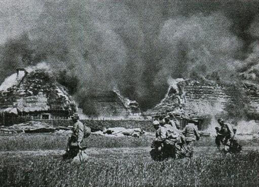 Palące się wsie Podlasia - 1915 r.