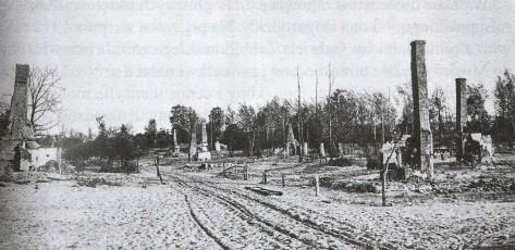 Podlaska wieś po ostrzale artyleryjskim - 1915 r.