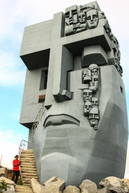 Magadan i slynny pomnik symbol łagrów