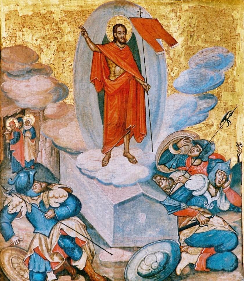 XVI-wieczna Ikona Zmartwychwstania Pańskiego znajdująca się w ikonostasie lubelskiej katedry