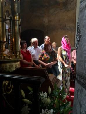 Lubelscy wierni na święcie Przemienienia Pańskiego w lubelskiej katedrze