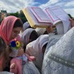Czytanie Ewangelii na święto Przemienienia Pańskiego w lubelskiej katedrze