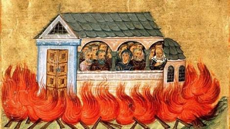 Ορθόδοξος Συναξαριστής 28 Δεκεμβρίου, Άγιοι Δισμύριοι (20.000) μάρτυρες που κάηκαν στη Νικομήδεια