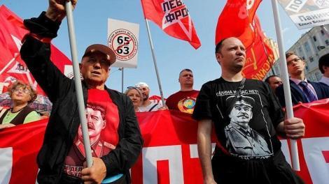 Ρωσία: Χιλιάδες διαδηλωτές στη Μόσχα για τις συντάξεις