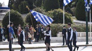 Η μαθητική παρέλαση στην Αθήνα για την Εθνική Επέτειο της 25ης Μαρτίου 1821