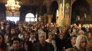 Το «Μακεδονία Ξακουστή» τραγούδησαν στον Καθεδρικό Ιερό Ναό Παναγίας Φανερωμένης Χολαργού