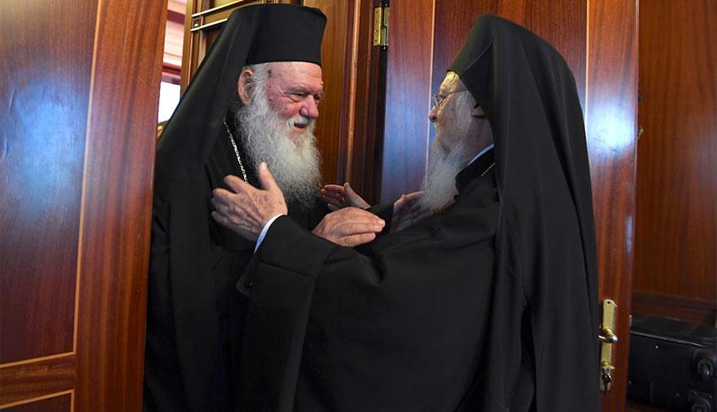 Επικοινωνία είχαν Αρχιεπίσκοπος Ιερώνυμος & Οικουμενικός Πατριάρχης Βαρθολομαίος
