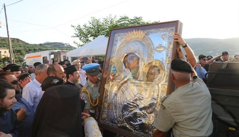 Έλευση Ιεράς και θαυματουργού Εικόνος Παναγίας Παραμυθίας στην Ι.Μ. Κισάμου & Σελίνου