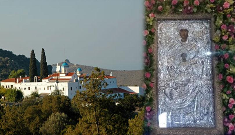 Η Παναγία η Χρυσολεόντισσα στην Αίγινα
