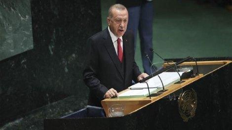Ρ.Τ. Ερντογάν από ΟΗΕ: Η Τουρκία θα προστατεύσει τα συμφέροντά της στην Αν. Μεσόγειο