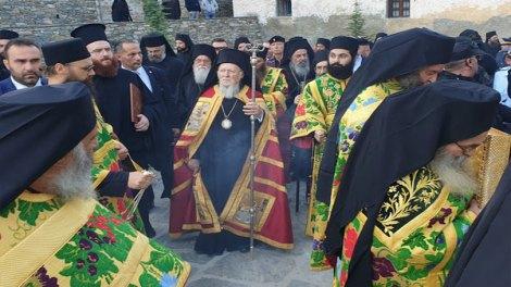 Άγιον Όρος | Ο Οικουμενικός Πατριάρχης Βαρθολομαίος στις Καρυές (ΦΩΤΟ & ΒΙΝΤΕΟ)