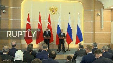 Κόσμος | Ολοκληρώθηκε η συνάντηση Πούτιν Ερντογάν