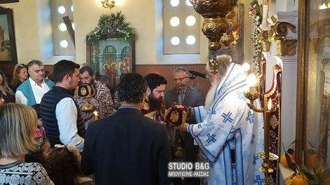 Εισόδια της Θεοτόκου   Αρχιερατική θεία Λειτουργία στην Νέα Τίρυνθα