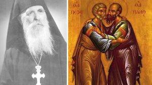 Οι Άγιοι Απόστολοι Πέτρος & Παύλος - Γέροντας Φιλόθεος Ζερβάκος