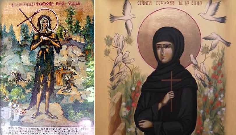 7 Αυγούστου σήμερα γιορτάζει η Οσία Θεοδώρα της Σύχλας