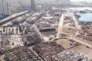 Βηρυτός : Συγκλονιστικό εναέριο βίντεο αποκαλύπτει το μέγεθος της καταστροφής