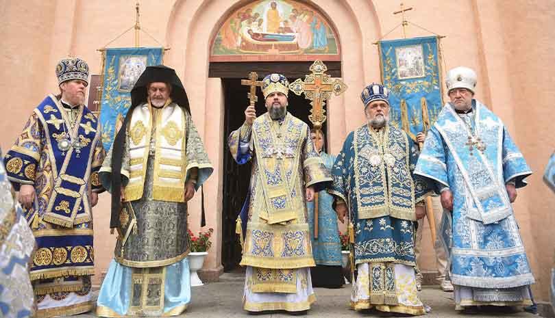 Κίεβο   Στην εορτή της Κοιμήσεως της Θεοτόκου ο Μητροπολίτης Γαλλίας κ. Εμμανουήλ