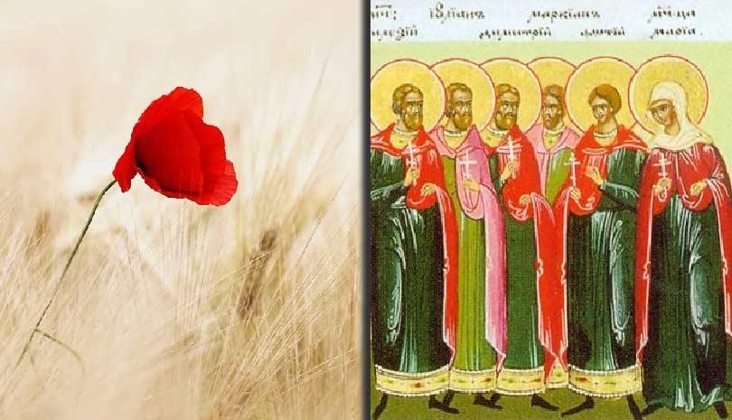 Κυριακή 9 Αυγούστου Άγιοι Δέκα Μάρτυρες που μαρτύρησαν στη Χάλκη