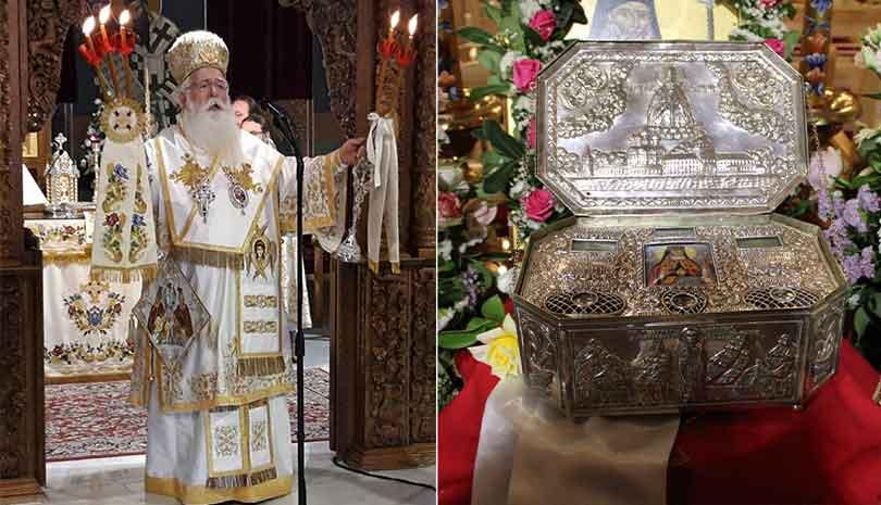 Υποδοχή Ιερών Λειψάνων Αγίου Λουκά του Ιατρού & Εορτή Μεταμορφώσεως του Κυρίου στο Βόλο