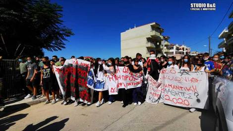 Ναύπλιο: Συγκέντρωση και πορεία από τους μαθητές των σχολείων που τελούν υπό κατάληψη