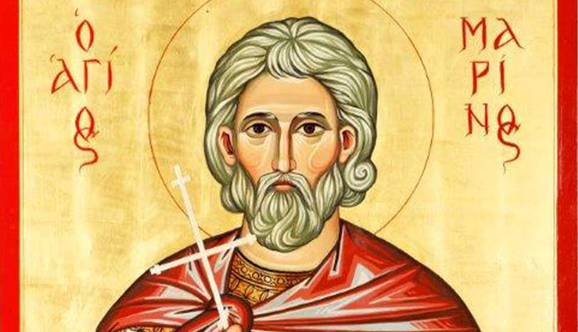 Ο Άγιος Μαρίνος ο Γέρων γιορτάζει σήμερα 18 Οκτωβρίου