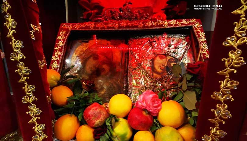 Εισόδια της Θεοτόκου στην εορτάζουσα Παναγία την Πορτοκαλούσα στο Άργος