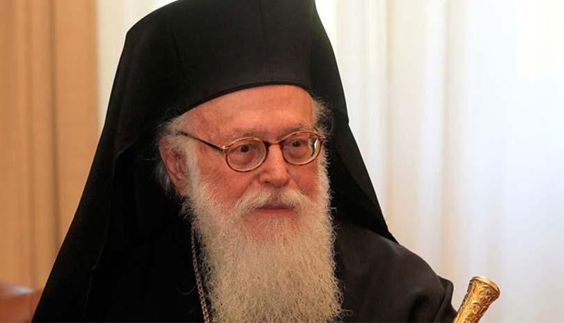 Ο Αρχιεπισκόπος Αλβανίας Αναστάσιος μέσα από το νοσοκομείο Ευαγγελισμός