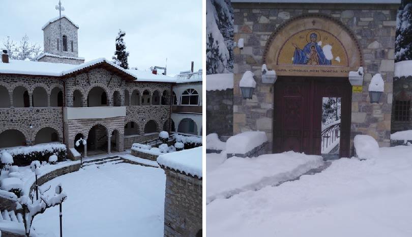 Χιονισμένα τα μοναστήρια στην Φθιώτιδα