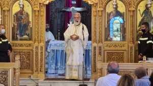 Κρυονέρι : Θεία Λειτουργία μετά την πυρκαγιά