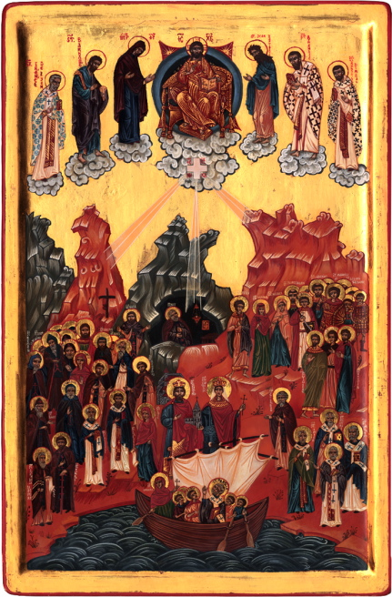 Icon of All the Saints of Switzerland