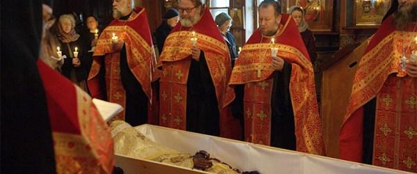 Re-internment of Bishop Constantine (Essensky) at Holy Trinity Monastery, Jordanville, New York.