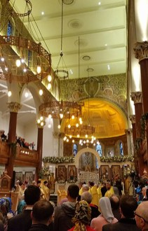Patriarchal service at the Moscow Patriarchate cathedral in London.