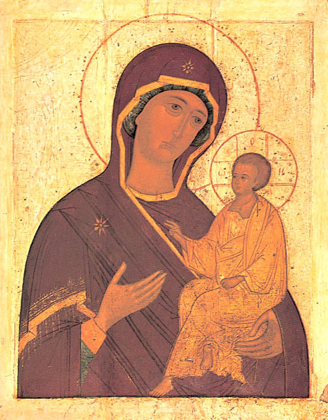 "Saints and Feasts: Icon of the Mother of God Weeping ""Tikhvin"" on Mt Athos"