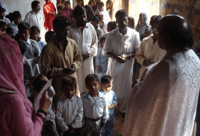 Chrismation and Baptism in Pakistan by Fr. John Tanveer