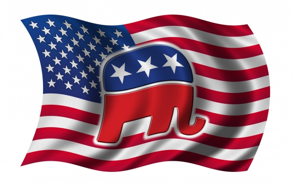 Republican-Elephant-and-Flag