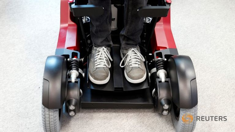 an-employee-stands-on-a-wheelchair-developed-by-israeli-company-1