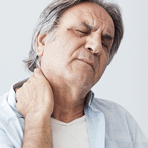 Man with neck Arthritis