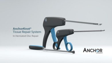 Photo of Surgeons see the need for herniated disc repair using the AnchorKnot® Tissue Approximation Kit