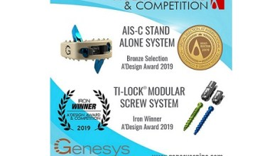 Photo of AIS-C Stand Alone System and TiLock Modular Screw System both winners of A' Design Awards 2019
