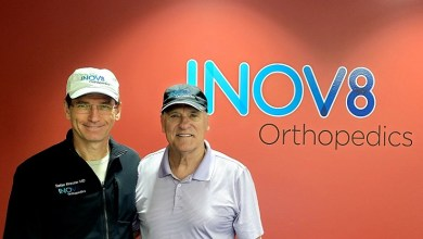 Photo of Former Professional Baseball Player Pain-Free after Knee Surgery with Active Robot Technology Available at INOV8 Surgical