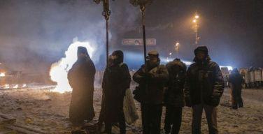 Репортаж. Ночная молитва под перекрестным огнем на Грушевского
