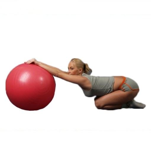 Мяч гимнастический красный (Фитбол) ОРТОСИЛА Арт. L 0165 b, диаметр 65 см