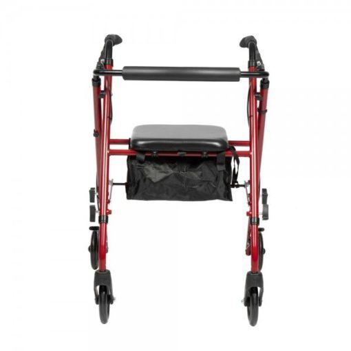 Ходунки-ролляторы на 4х колесах.  Рама стальная, чёрные колёса, сумка для вещей. Dayang Medical XR105