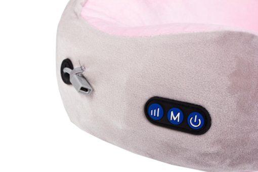 Дорожная подушка-подголовник для шеи с завязками, серо-зелёная, серо-розовая BRADEX KZ 0558, KZ 0559