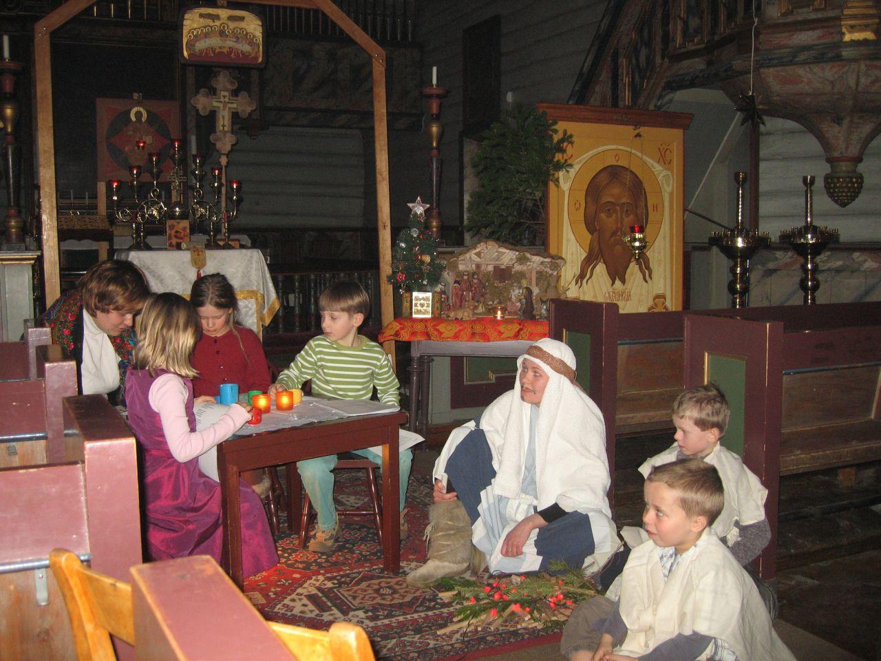 детский праздник Рождества Христова в Тронхейме 2007 год