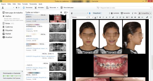 evernote consultorio ortodontia